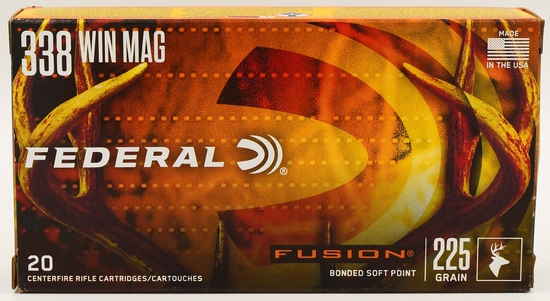 20 Rounds Federal Fusion 338 Win Mag Ammunition