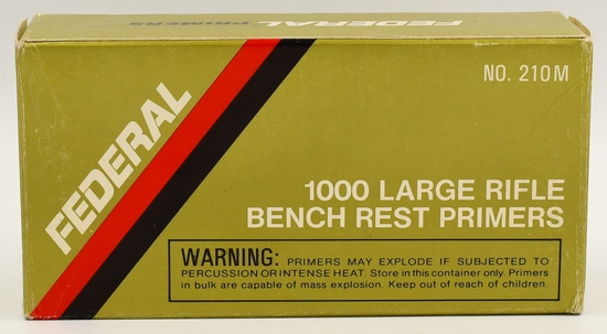 900 Count Of Federal 210M Bench Rest Primers