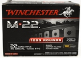 1000 Rounds Of Winchester M22 .22 LR Ammunition