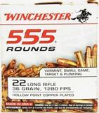 Winchester 555 Round Brick of .22 LR Ammunition
