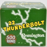 500 Rounds Of Remington Thunderbolt .22 LR Ammo