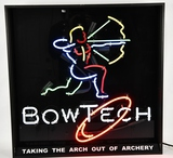 Bowtech Hanging Neon Lighted Sign