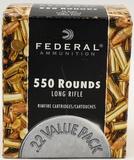 550 Rounds Of Federal .22 LR Ammunition