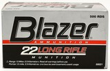 500 Rounds Of Blazer .22 LR Ammunition
