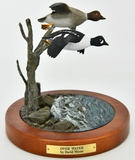 Over Water Hunting Sculpture By David Maass