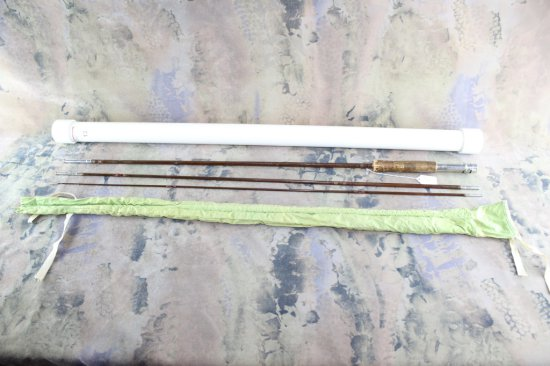 Brown Tohl split bamboo fly rod