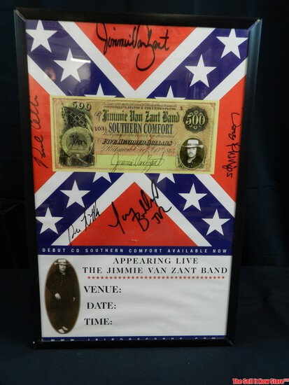Jimmie Van Zant Band Signed Picture