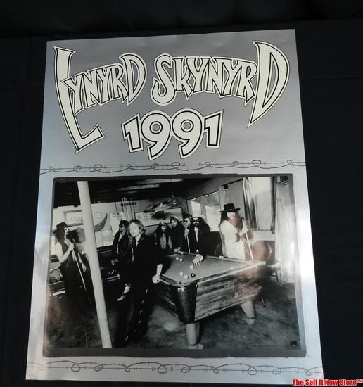 Lynyrd Skynrd 1991 Band Concert Poster