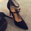 Anne Michelle Black Heels