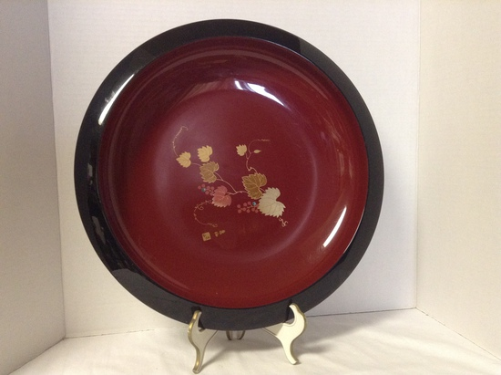 Asian Red Lacquer Bowl