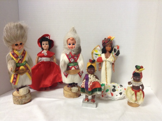 Lot of International Dolls