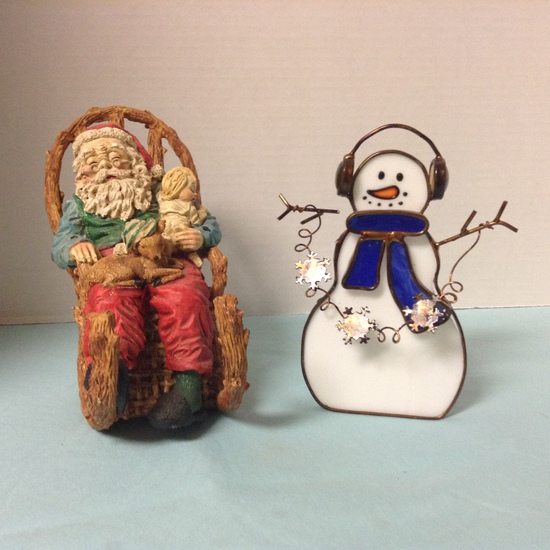 Two Holiday Figurines