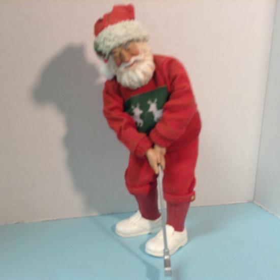 Golfing Santa in Red