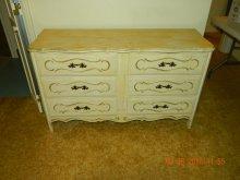 6 drawer wooden French provincial dresser
