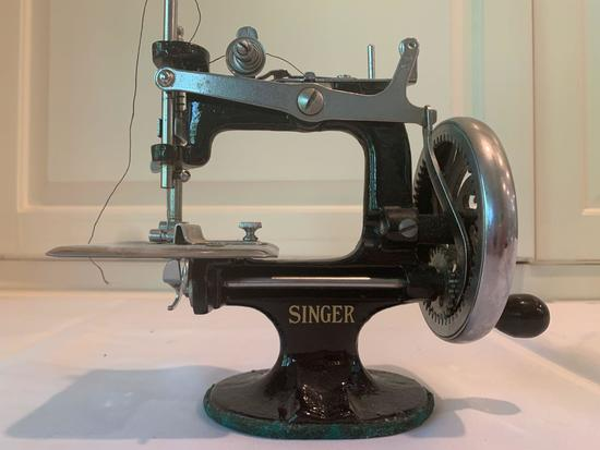 Vintage handle sewing machine