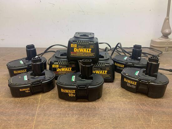 DeWalt battery and charger lot