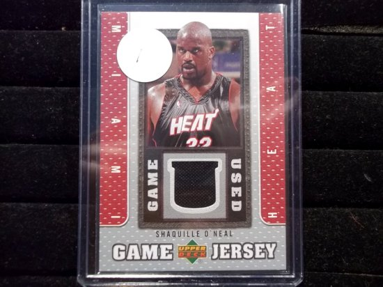 Shaquille O'neal Miami Heat Game Used Jersey Card