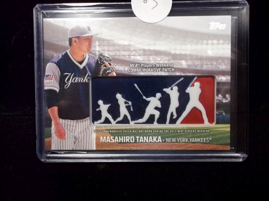Masahiro Tananka Commemorative Patch Card Thick 150 Point Nice New York Yankees