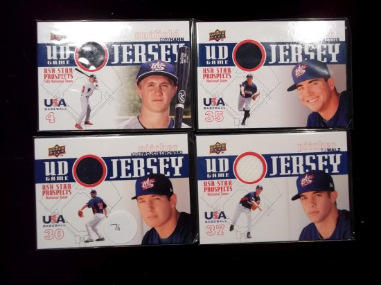 Usa Baseball Game Used Jersey Card