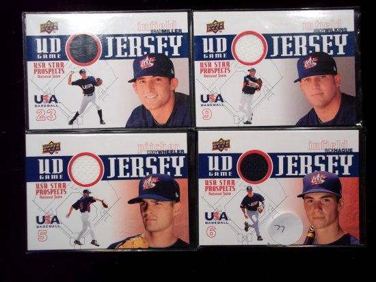Usa Baseball Game Used Jersey Card
