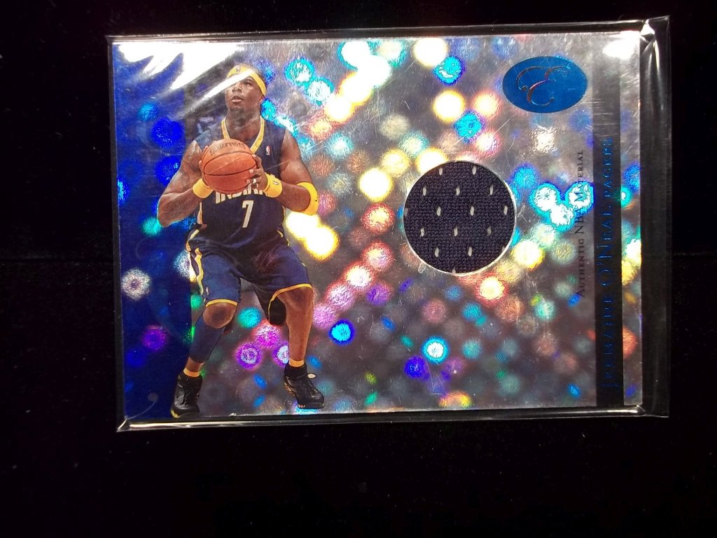 Jermaine O'neal Indiana Pacers Game Used Jersey Card Short Print 04/79 !