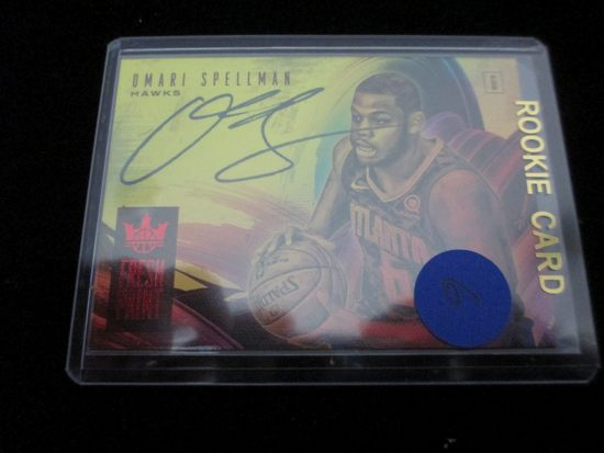 Omari Spellman Signiture Card And Numbered 72/99