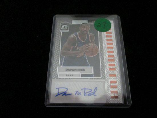 Davon Reed Signiture Card