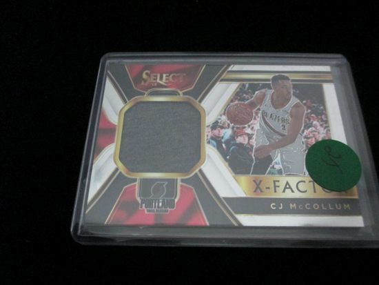X-factor Cj Mccollum Jersey Card