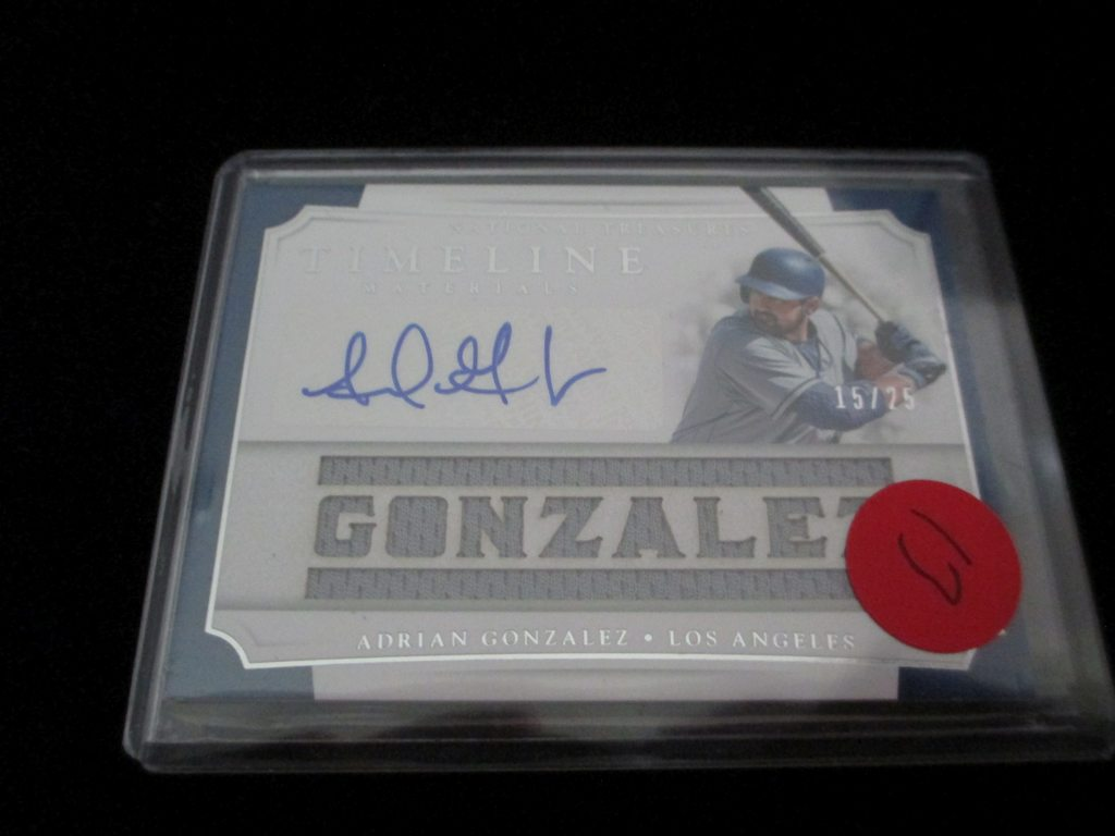 Adrian Gonzalez Signiture And Jersey Card Timeline Materials