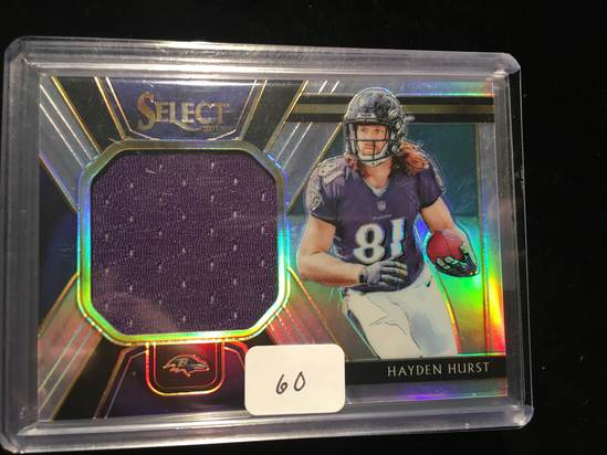 new products 3d32e 994e8 Hayden Hurst Baltimore Ravens Game Used Jersey Card | Art ...