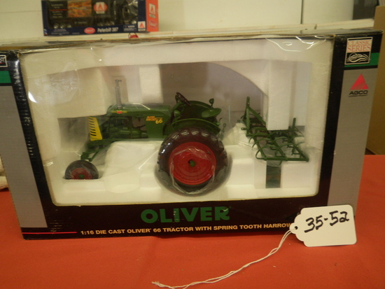 OLIVER 66 TRACTOR W/ SPRING TOOTH HARROW