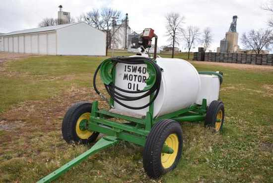 (Located in Sleepy Eye, MN) Oil Tender Cart w/Hitc