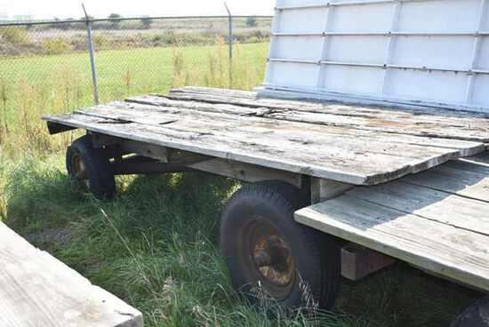 (Located in Mendota, IL) Trailer, Wood Deck, 14' L