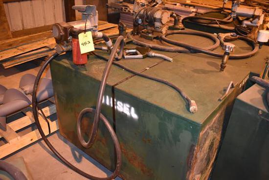 (Located in Sleepy Eye, MN) Diesel Fuel Tank & Pum