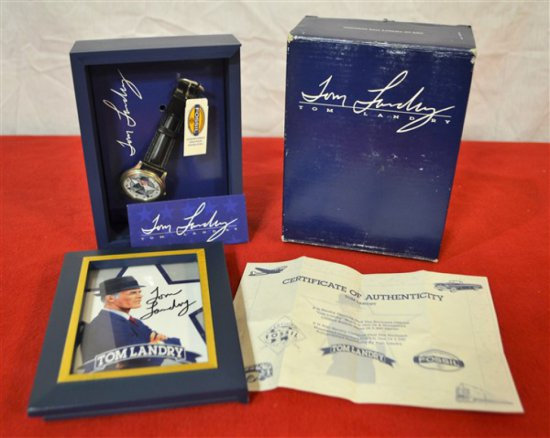 Tom Landry signed Fossil watch