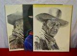 3 John Wayne Portrait Prints