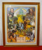 The Wizard of Oz Poster Signed Ray Bolger and Jack Haley