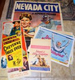 7 Assorted Posters- 1 Signed Lash LaRue