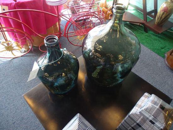 EUROPEAN GLASS JARS (X2)  RETAIL $187