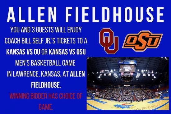 Bill Self's Personal Tickets at Allen Fieldhouse in Lawrence, KS,