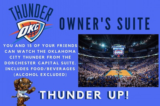 OKC Thunder Owner's Suite For a Game