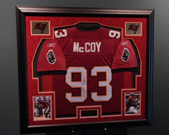 Gerald McCoy, Tampa Bay Buccaneers Framed Autographed Jersey 40 x 37