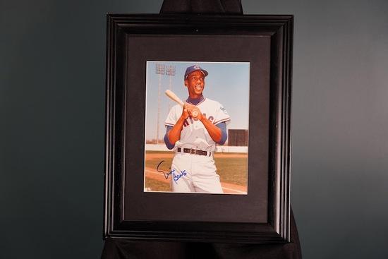 Ernie Banks, Chicago Cubs Framed Autograph 13.5 x 16.5