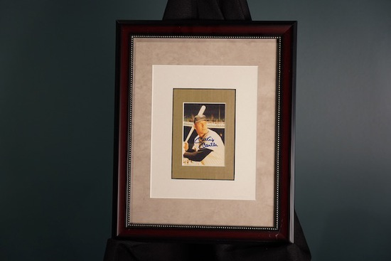 Mickey Mantle, New York Yankees Framed Autograph 13 x 16