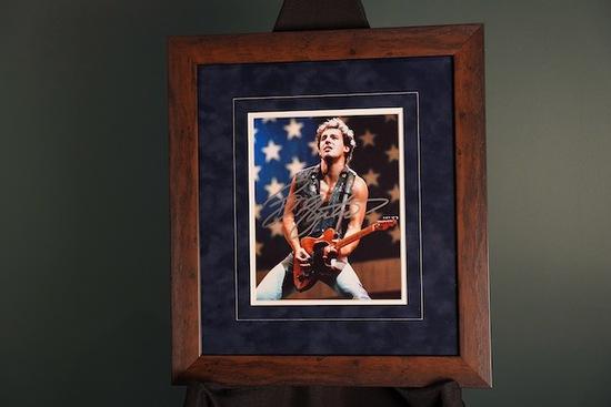 Bruce Springsteen Autographed Frame 16 x 18