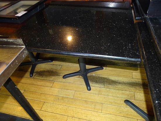 MARBLE TOP TABLE (X8)