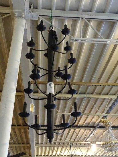 """CANDLE STICK HANGING LIGHT 46"""" TALL 18"""" ACROSS"""