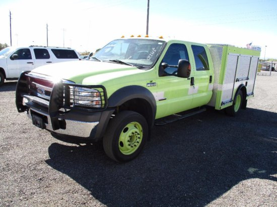 2005 FORD F-550XLT FIRE TRUCK