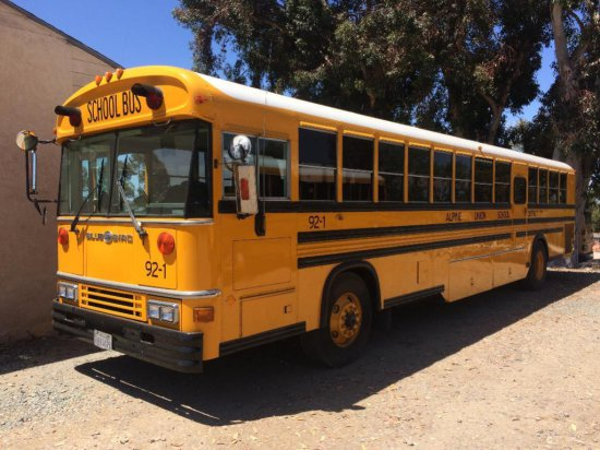 OFFSITE LOT - 1992 BLUE BIRD SCHOOL BUS