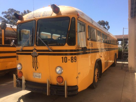 OFFSITE LOT - 1989 CROWN SCHOOL BUS